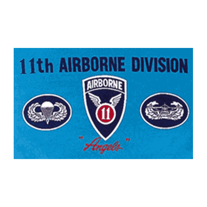 11th Airborne 5x3 Feet Polyester Flag with Eyelets - 150cm x 90cm