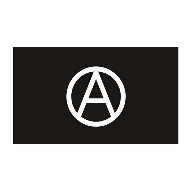 Anarchy 5x3 Feet Polyester Flag with Eyelets - 150cm x 90cm
