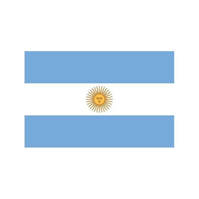 Argentina 8x5 Feet Polyester Flag with Eyelets - 250cm x 150cm