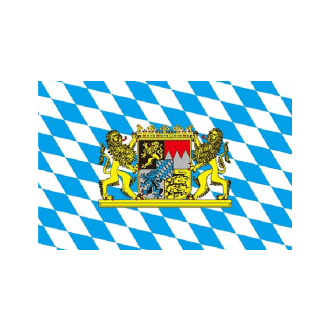 Bavaria Lion 3x2 Feet Polyester Flag with Eyelets - 90cm x 60cm