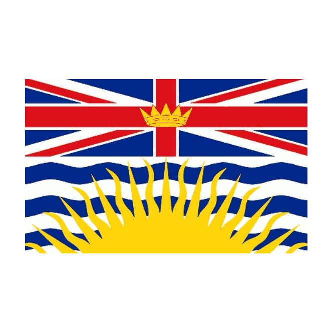 British Columbia 5x3 Feet Polyester Flag with Eyelets - 150cm x 90cm