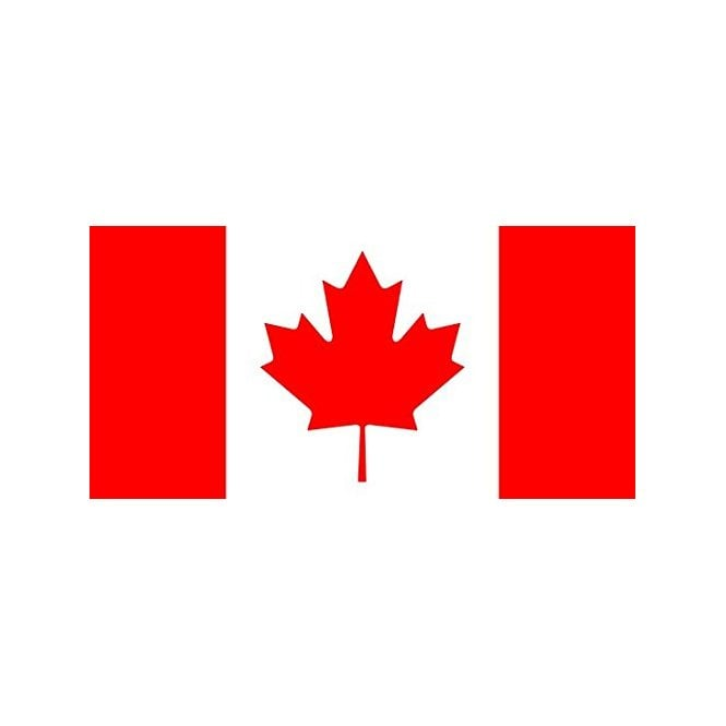 Canada 8x5 Feet Polyester Flag with Eyelets - 250cm x 150cm