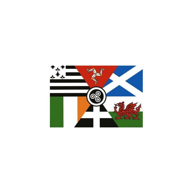 Celtic Nations 3x2 Feet Polyester Flag with Eyelets - 90cm x 60cm