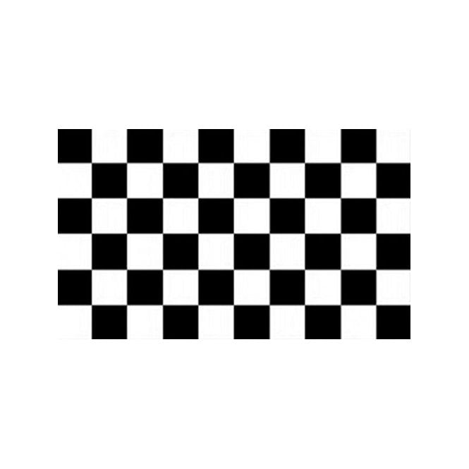 Chequered Black White 3x2 Feet Polyester Flag with Eyelets - 90cm x 60cm