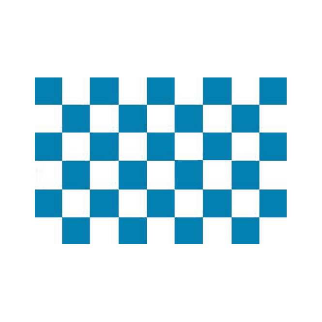 Chequered French Navy/White 5x3 Feet Polyester Flag with Eyelets - 150cm x 90cm