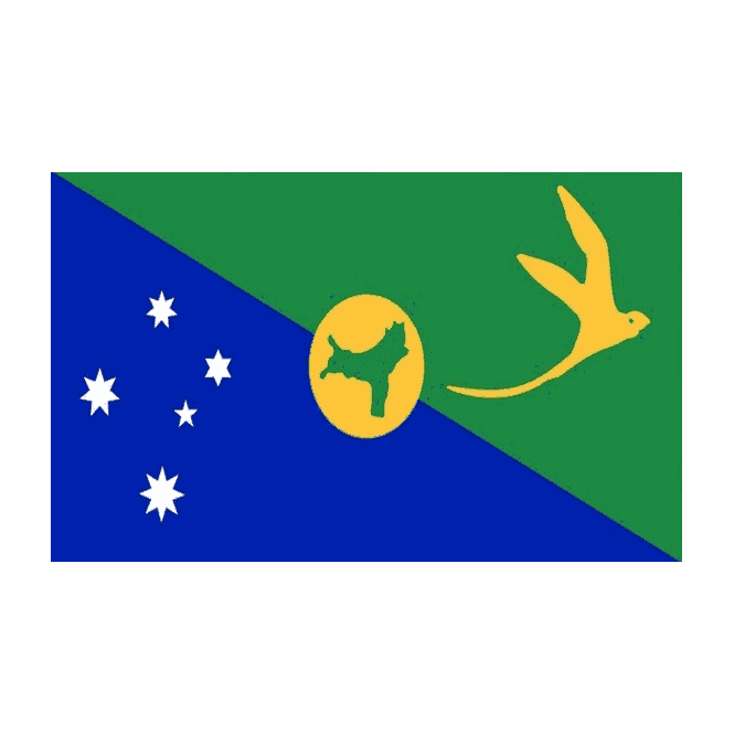 Christmas Island 5x3 Feet Polyester Flag with Eyelets - 150cm x 90cm