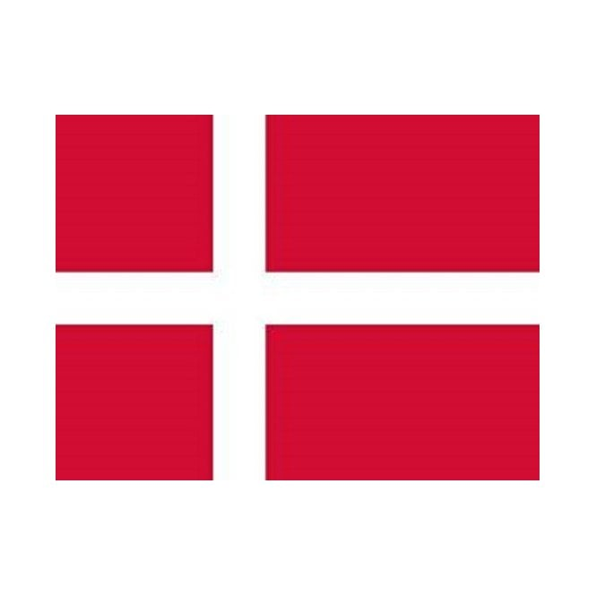 Denmark 5x3 Feet Polyester Flag with Eyelets - 150cm x 90cm