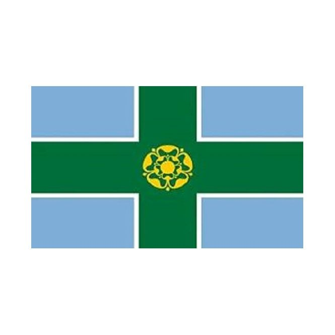 Derbyshire 3x2 Feet Polyester Flag with Eyelets - 90cm x 60cm