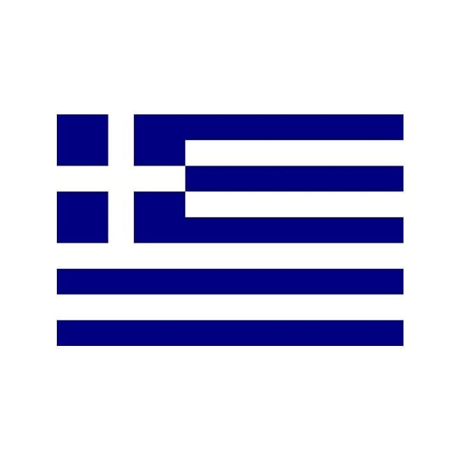 Greece 8x5 Feet Polyester Flag with Eyelets - 250cm x 150cm