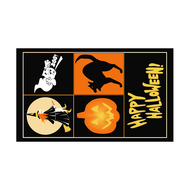 Halloween 5x3 Feet Polyester Flag with Eyelets - 150cm x 90cm