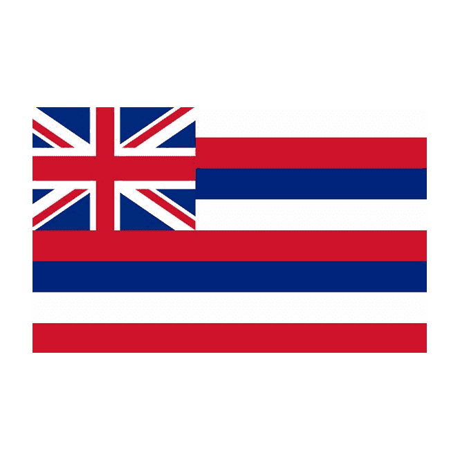 Hawaii 5x3 Feet Polyester Flag with Eyelets - 150cm x 90cm