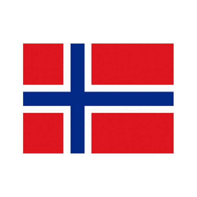 Hitra (Norway) 5x3 Feet Polyester Flag with Eyelets - 150cm x 90cm