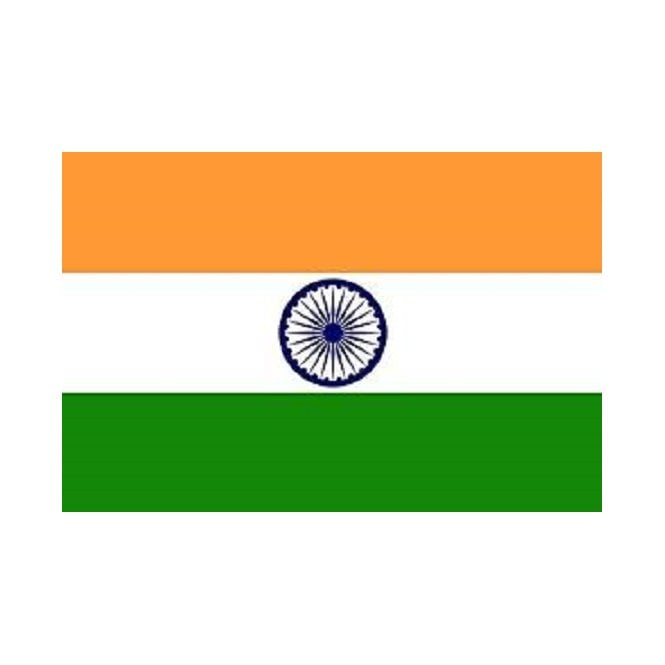 India 3x2 Feet Polyester Flag with Eyelets - 90cm x 60cm
