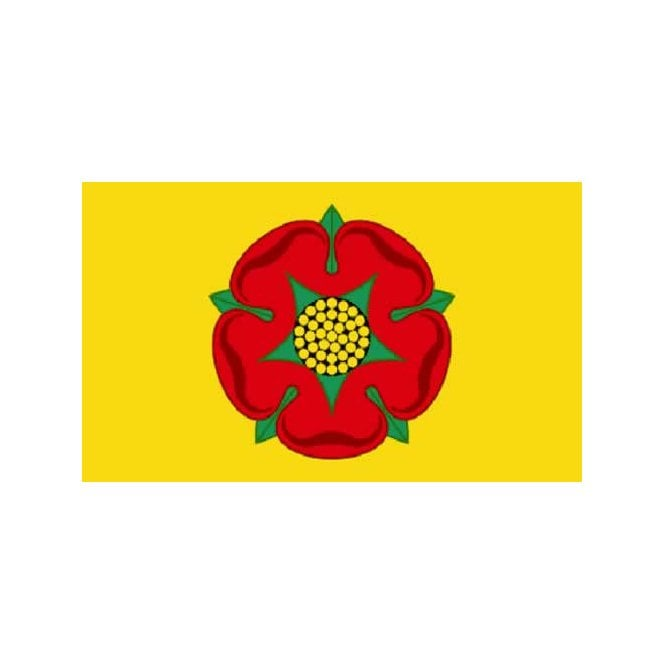 Lancashire 3x2 Feet Polyester Flag with Eyelets - 90cm x 60cm