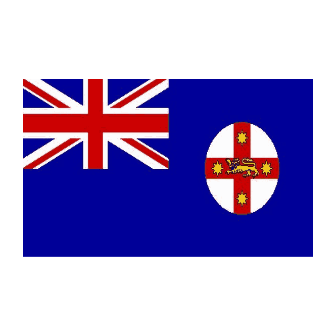 New South Wales 5x3 Feet Polyester Flag with Eyelets - 150cm x 90cm