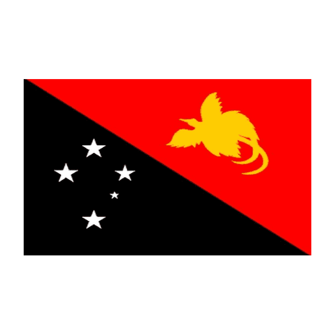 Papua New Guinea 5x3 Feet Polyester Flag with Eyelets - 150cm x 90cm