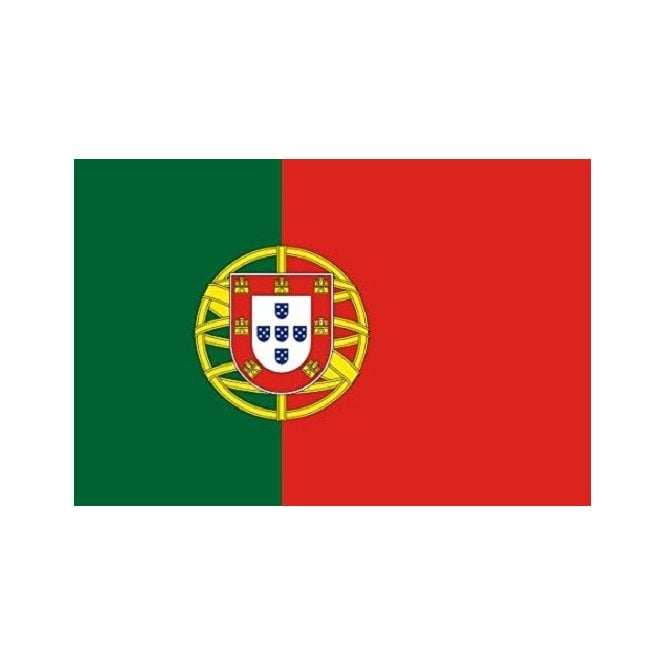Portugal 5x3 Feet Polyester Flag with Eyelets - 150cm x 90cm