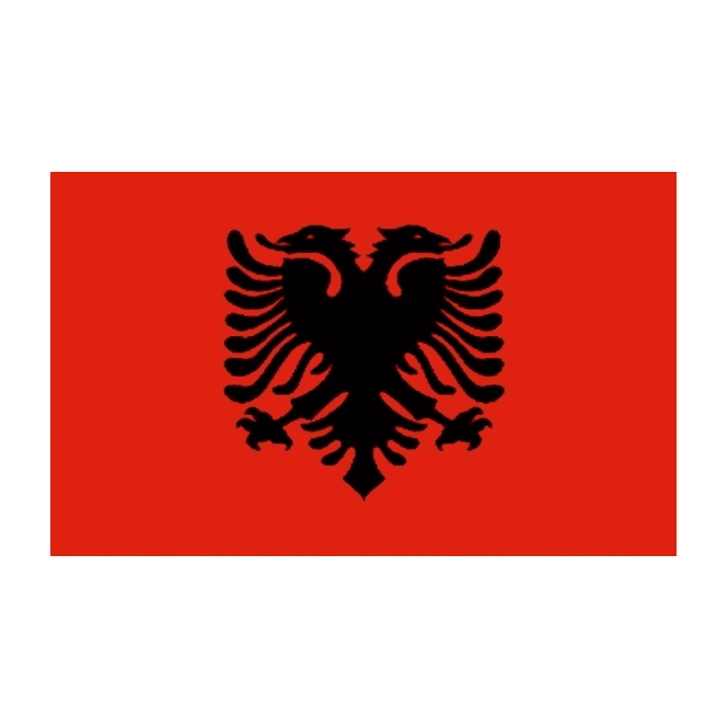 Albania 3x2 Feet Polyester Flag with Eyelets - 90cm x 60cm