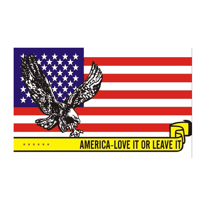 America Love It Or Leave It 5x3 Feet Polyester Flag with Eyelets - 150cm x 90cm
