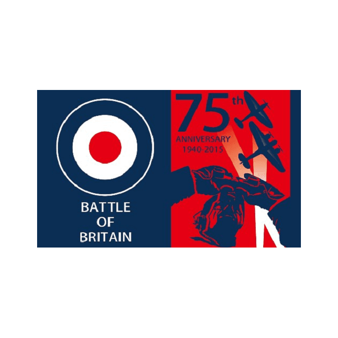 *Battle of Britain 75th Anniversary 5x3 Feet Polyester Flag with Eyelets - 150cm x 90cm