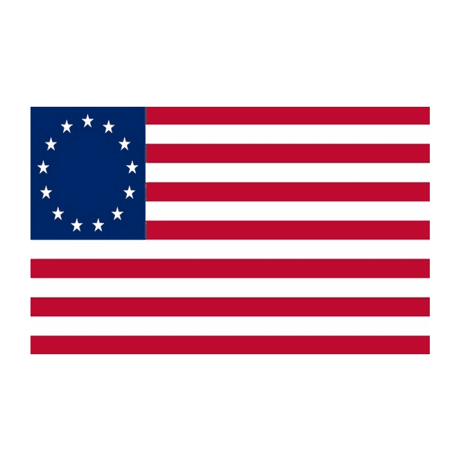 Betsy Ross 5x3 Feet Polyester Flag with Eyelets - 150cm x 90cm