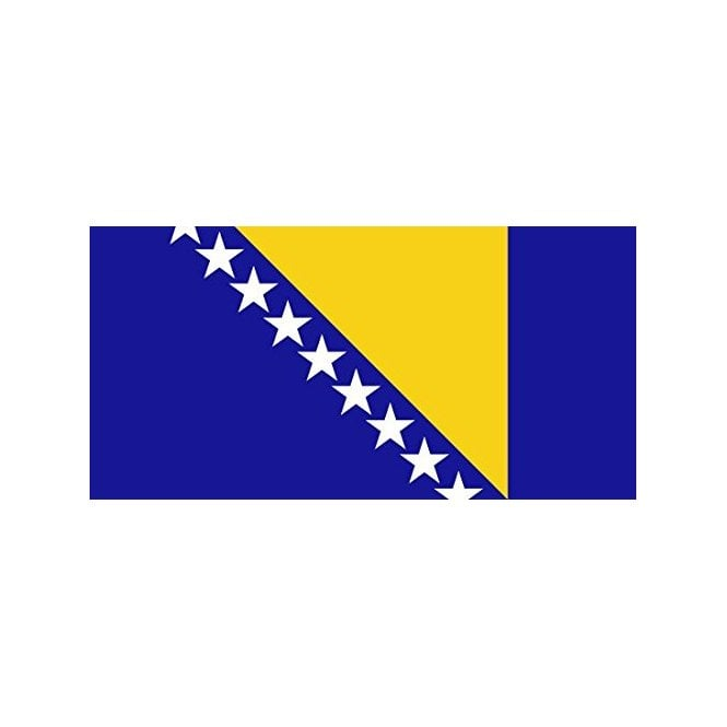 Bosnia Herzegovina 3x2 Feet Polyester Flag with Eyelets - 90cm x 60cm
