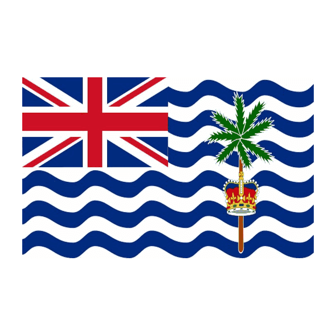 British Indian Ocean Territory 5x3 Feet Polyester Flag with Eyelets - 150cm x 90cm