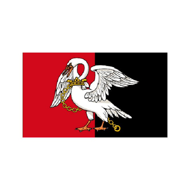 Buckinghamshire 5x3 Feet Polyester Flag with Eyelets - 150cm x 90cm