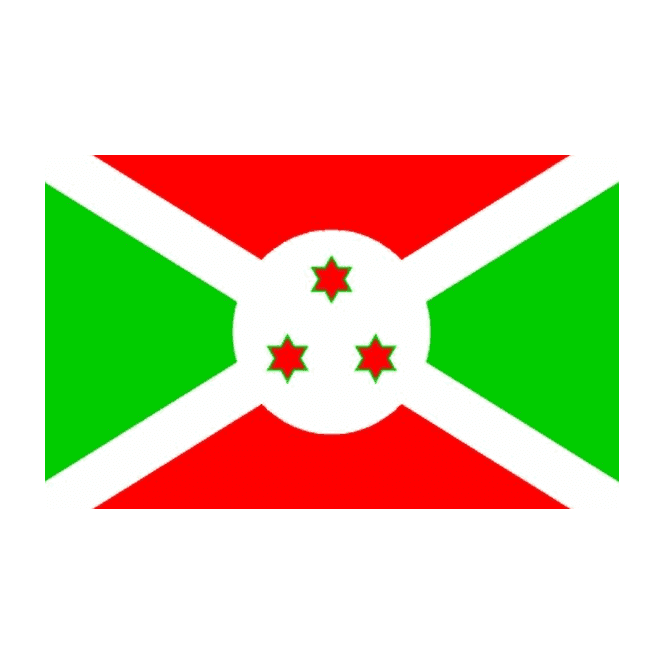 Burundi 5x3 Feet Polyester Flag with Eyelets - 150cm x 90cm