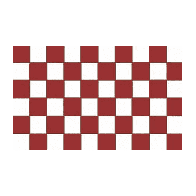 Chequered Maroon/White 5x3 Feet Polyester Flag with Eyelets - 150cm x 90cm