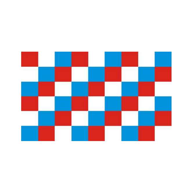 Chequered Red/White/Blue 5x3 Feet Polyester Flag with Eyelets - 150cm x 90cm