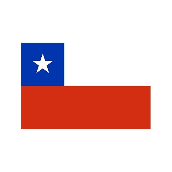 Chile 5x3 Feet Polyester Flag with Eyelets - 150cm x 90cm