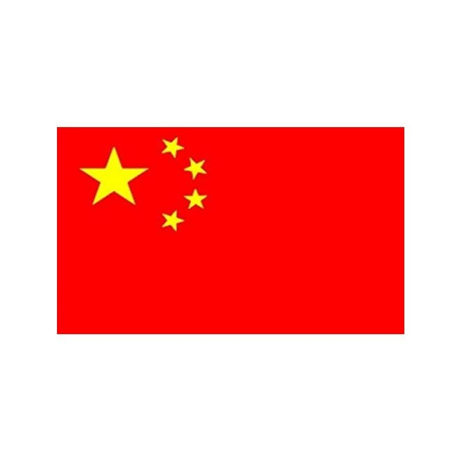 China 5x3 Feet Polyester Flag with Eyelets - 150cm x 90cm