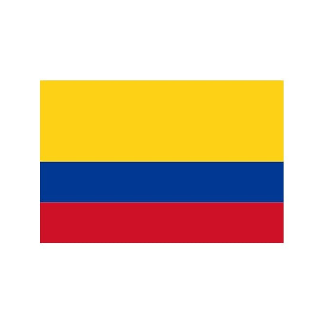 Colombia 5x3 Feet Polyester Flag with Eyelets - 150cm x 90cm