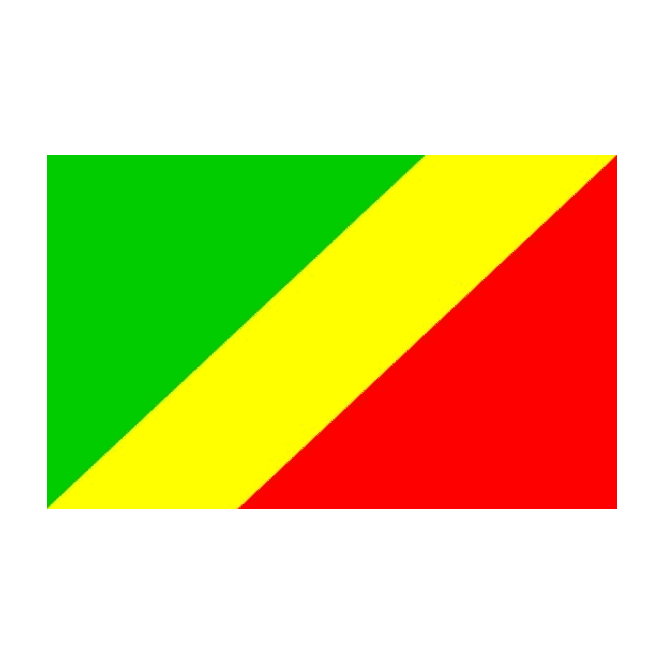 Congo Brazaville 6 x 4 Inch Polyester Hand Flag - 15cm x 10cm