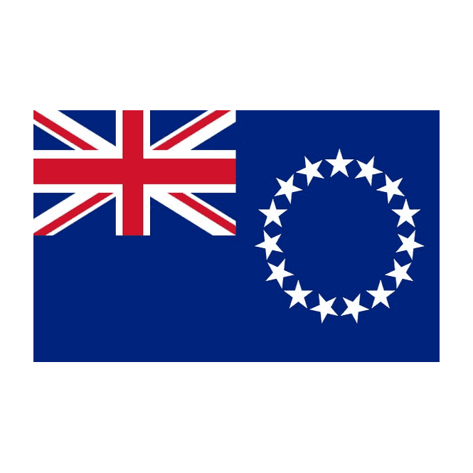 Cook Islands 3x2 Feet Polyester Flag with Eyelets - 90cm x 60cm