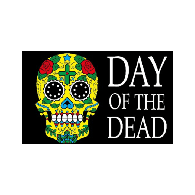 Day Of The Dead 5x3 Feet Polyester Flag with Eyelets - 150cm x 90cm