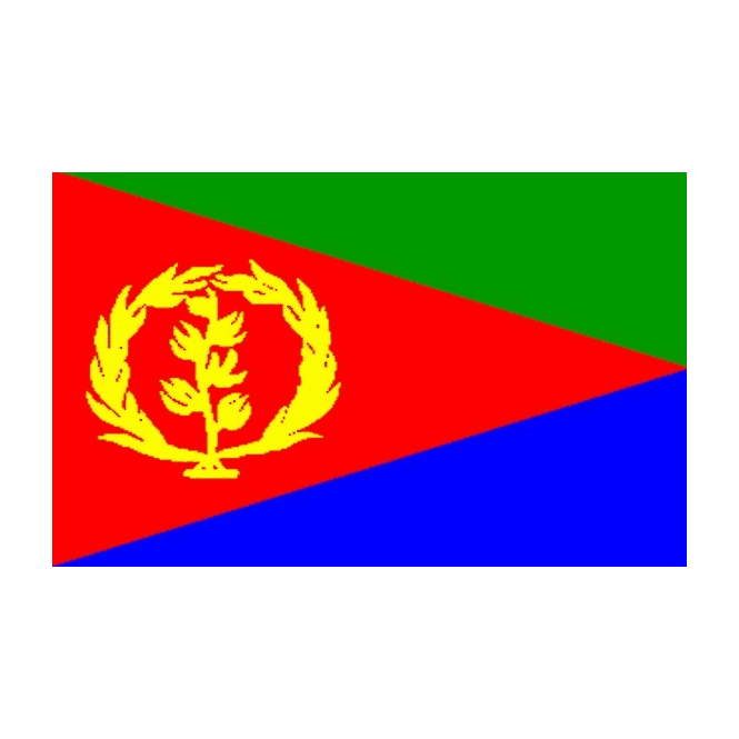 Eritrea 5x3 Feet Polyester Flag with Eyelets - 150cm x 90cm
