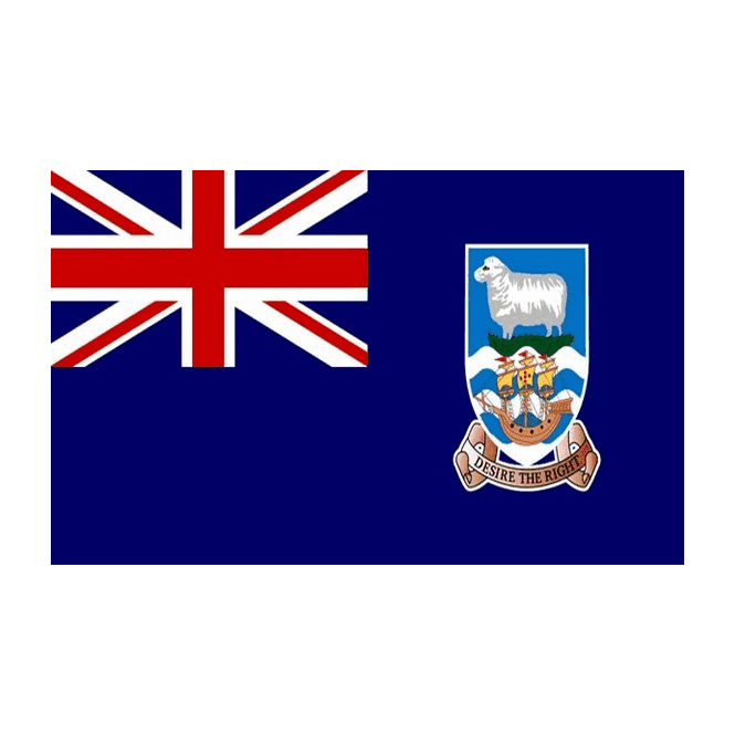 Falkland Islands 3x2 Feet Polyester Flag with Eyelets - 90cm x 60cm