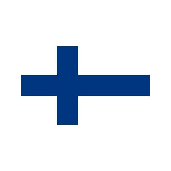 Finland 5x3 Feet Polyester Flag with Eyelets - 150cm x 90cm