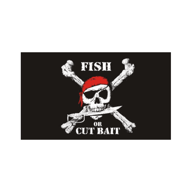 Fish Pirate 5x3 Feet Polyester Flag with Eyelets - 150cm x 90cm