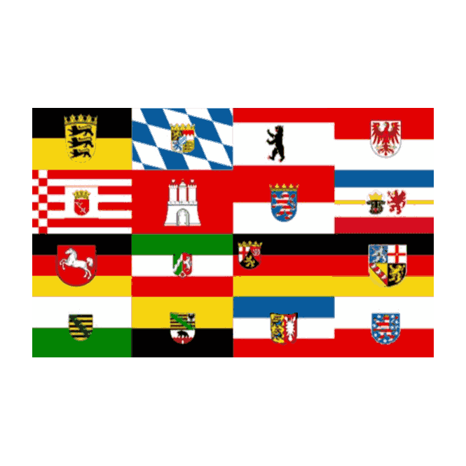 German All Federal States 5x3 Feet Polyester Flag with Eyelets - 150cm x 90cm