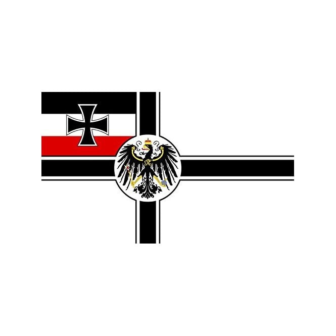 German Imperial WW1 With Crest 3x2 Feet Polyester Flag with Eyelets - 90cm x 60cm