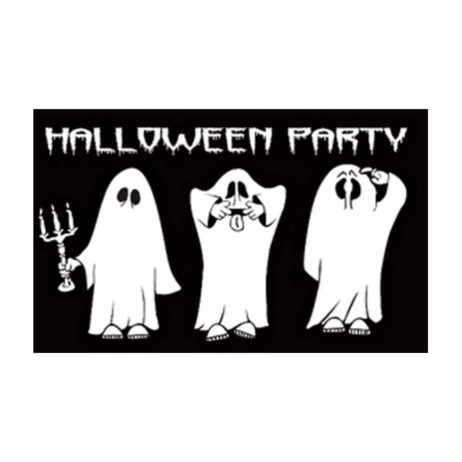 Halloween Party 5x3 Feet Polyester Flag with Eyelets - 150cm x 90cm
