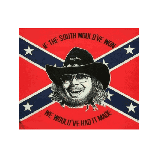 Hank Williams Confederate 5x3 Feet Polyester Flag with Eyelets - 150cm x 90cm