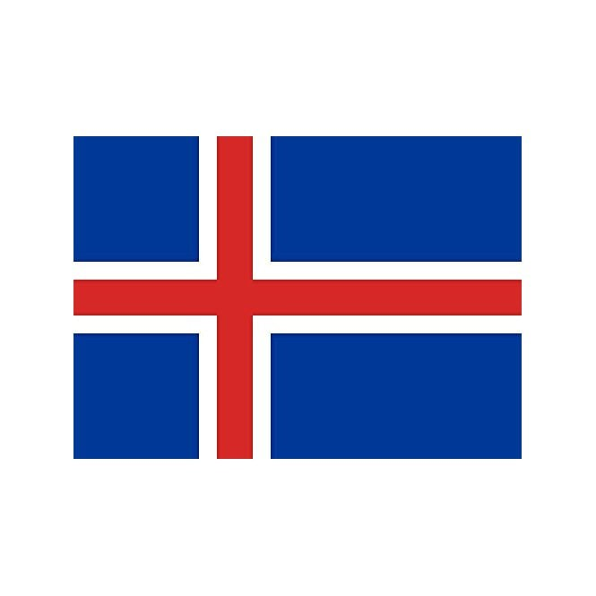 Iceland 8x5 Feet Polyester Flag with Eyelets - 250cm x 150cm