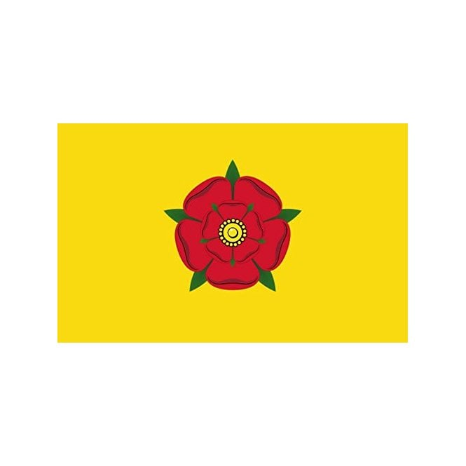 Lancashire Red Rose Old 5x3 Feet Polyester Flag with Eyelets - 150cm x 90cm