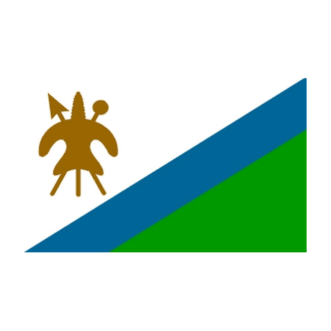 Lesotho (Old) 5x3 Feet Polyester Flag with Eyelets - 150cm x 90cm