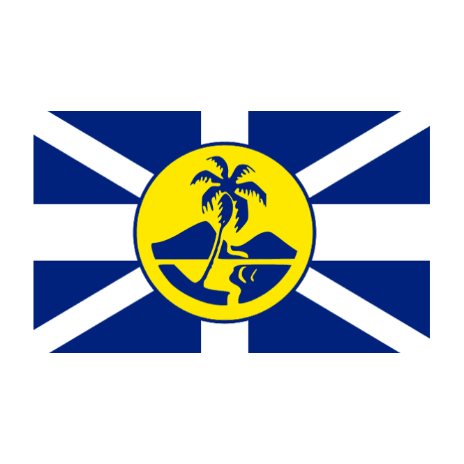 Lord Howe Island 5x3 Feet Polyester Flag with Eyelets - 150cm x 90cm