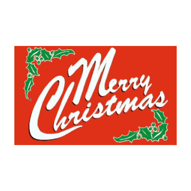 Merry Christmas Red 5x3 Feet Polyester Flag with Eyelets - 150cm x 90cm